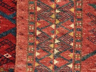 "Non Turkmen Trapping, 4'3"" x 1'5"", cotton wefting"