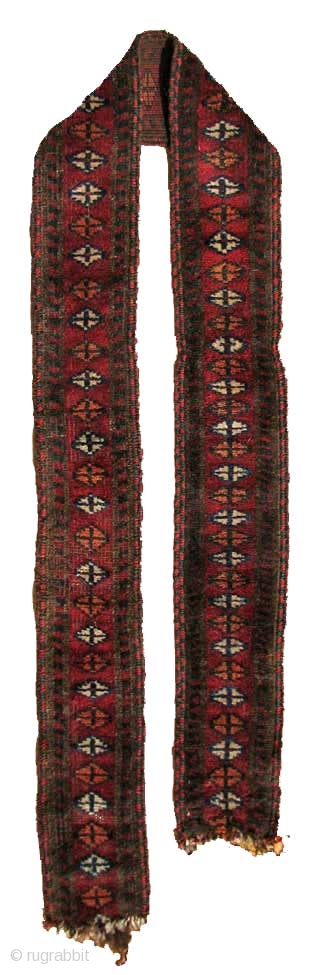 "Baluch Animal Trapping/Band, SE Persia, 19th Century, 4"" x 5' 1""