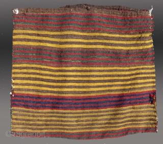 "Uzbek(?) Flat Woven Bag, N. Afghanistan, early 20th C., 1'7"" x 1'9""  Good condition"