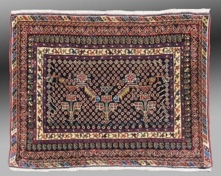 "Afshar Bag Face, S. Persia, 19th C., 2'8"" x 2'