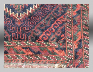 """Baluch """"Khorjin"""" (saddle bag), SE Persia, late 19th C, 2' x 4'4""""  Complete (both sides, no back as it was not original and has been discarded), Good dyes, unusual to find one of  ..."""