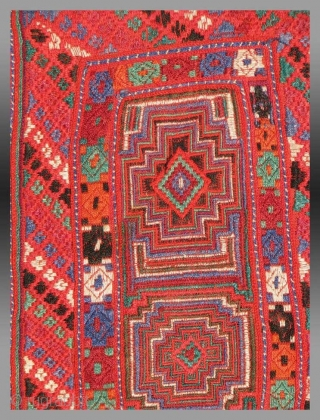"Baluch Embroidered Dress Front, SE Persia/SW Pakistan, circa 1935, 1' 9"" x 2' 3""