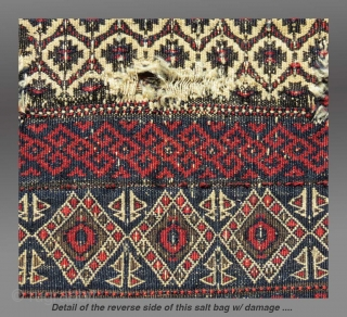 """Baluch Salt Bag, NE Persia, 19th C., 16"""" x 19.5""""   Please inquire for more details/infor"""