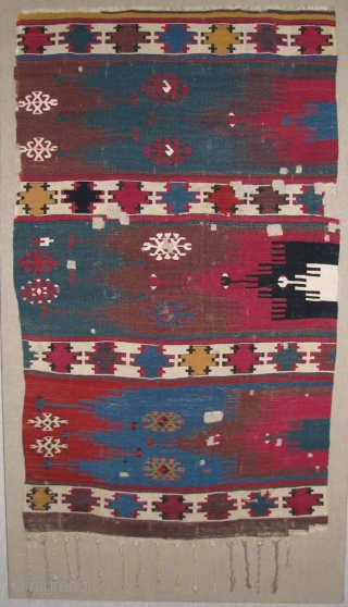 "East Anatolian Kilim, 19th Century, 2'6"" x 3'3""