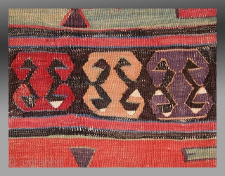 "Central Anatolian Kilim (fragment), 19th Century, 3'9"" x 5'6""