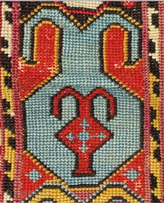 """Uzbek Silk Embroidered """"Band"""", Central Asia, 19th C.,  Clearly this textile was once part of a piece of clothing, perhaps a 'chapan' or jacket.  The absence of a 'finish' on one  ..."""
