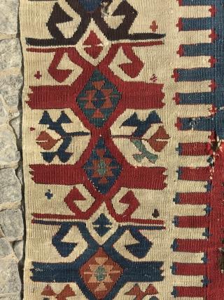 central anatolian kilim fragment, mid 19th century,161 x 76 cm