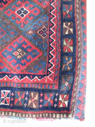"Karma show, 8 - 11 of June, London, nice colorful Jaf bag  with a beautiful back panel. Late 19th century, 66 x 65 cm, 2`2""x 2`1"""