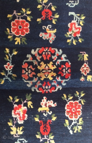 tibetan rug, central tibet, about 1900, very good condition, 163 x 81 cm,  64 x  32