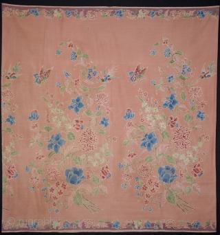 Signed Batik sarong, Pekalongan, Java, Indonesia. Beautiful piece. Fine cotton, hand-drawn. Size: 106x100cm. visit www.tinatabone.com