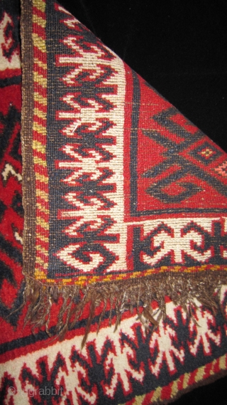 Uzbek piled textile.  Wool.  Age: 90yrs. Size: 75x52cm