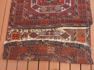 """Yoruk, """"Holbein"""" Kurdish rug, 46""""x 96"""" Originally purchased from a store called """"Anatolia"""" (now gone) in Seattle, some years ago. SOLD--THANK YOU!"""