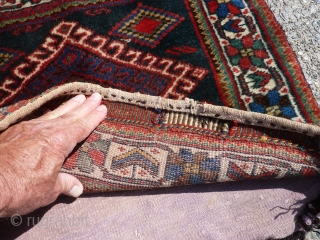 "Afshar (?) bag, 26"" x 23"" nice condition."