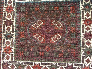 A Baluch pile chanteh in full-pile, near mint condition.  All natural dyes. A few knots missing by one selvage. A remnant of a goat hair closure at one end. Nice flat-woven  ...