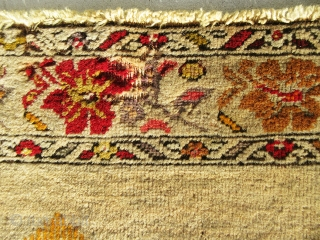 """Absolutely gorgeous, antique, historical anatolian rug in great rare design. It has a good condition with some small moth damages, the size of this lovely rug is 5'-3""""x3'-3"""""""