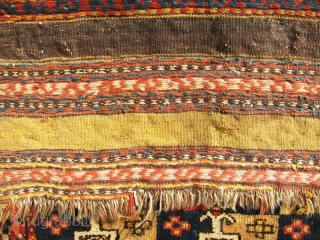 """Pair, antique, very gorgeous pile NW persian bag faces, unique design, good condition, small repair at one side done superb, soft and shiny. size 2'-2""""x2'-1""""."""
