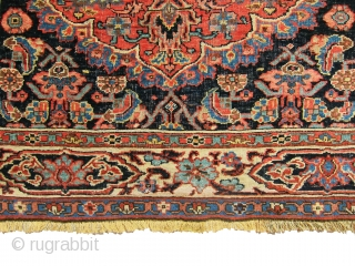 Very unique, antique Vagire Bidjar sampler rug in great condition, great large meddalion and different border design. It is a  fantastic piece in very reasonable price.
