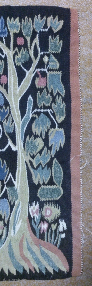 Antique Swedish kilim, no: 322, size: 76*54cm, pictorial design, wall hangings.