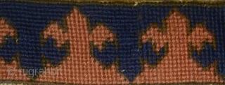 20th century European needle point copy of a Transylvanian border.