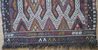 Antique Anatolian Juval(Jual) Face, no: 147, size: 94*55cm, circa 1900 wool and cotton.