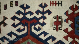 Antique Anatolian Kilim Fragment, no: 112, size: 96*52cm, 19th century, very nice motifs, wool and cotton, all natural colors.