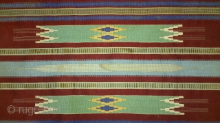 Antique syrian(syria) kilim, no: 163, size: 81*46cm, late 19th century, silk and wool.