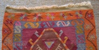 Anatolian Kilim, no: 138, size: 95*51cm, 20th century, wool and cotton.