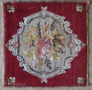 Anatolian rug, no: 141, size: 39*38cm, wool and wool.