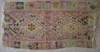 Antique Anatolian kilim, no: 132, size: 95*51cm, wool and wool.
