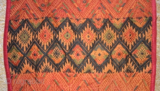 Antique Indonesia(Sumatra) textile embroidery , no: 173, size: 157*30cm, silk on cotton.
