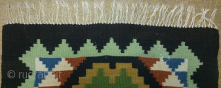 Antique Swedish Kilim, no: 230, size: 64*60cm, wool on cotton, all natural colors.