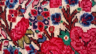 Bijar small rug, vase design, all natural color.