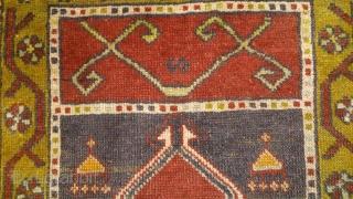Anatolian rug, no: 119, size: 88*54cm, wool and wool.