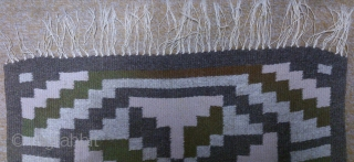 Antique Swedish Kilim, no: 262, size: 90*48cm, wool on cotton, all natural colors.