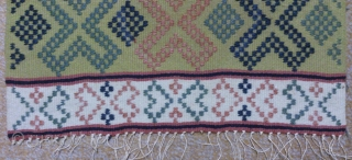 Antique Swedish Kilim, no: 256, size: 59*35cm, wool on cotton, all natural colors.