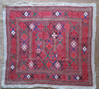 Persian embroidery wool on wool and 3 pieces, no: 184, size: 60*65cm.