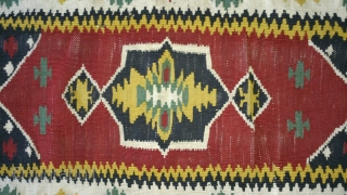 Antique Anatolian Kilim, no: 129, size: 91*50cm, wool and cotton on cotton.