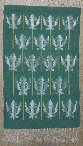 Antique Swedish Kilim, no: 233, size: 78*49cm, Tree of Life design, is the wall hangings, wool on cotton, all natural colors.