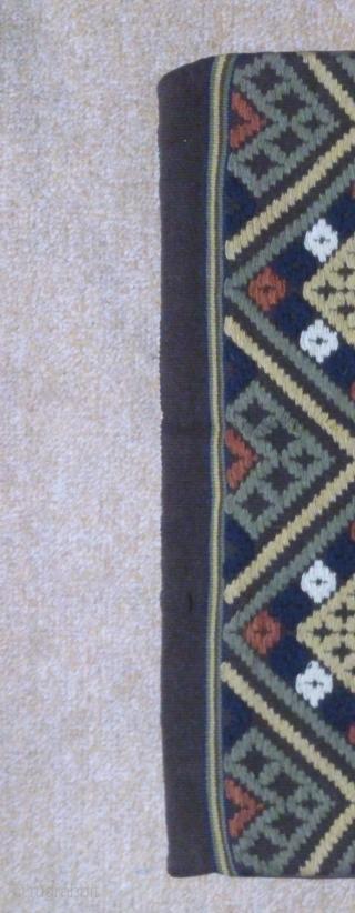 Antique pillow Swedish kilim, no: 341, size: 80*54cm, all natural colors.