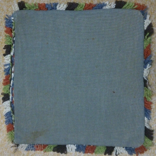 Antique Swedish cross stitch, no: 205, size: 28*29cm, wool on linen, Great color.