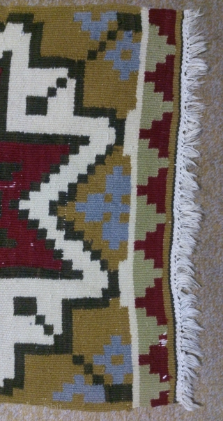 Antique Swedish Kilim, no: 250, size: 118*48cm, Has a signature.