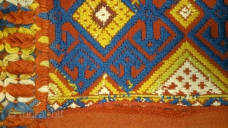 Antique Swedish Kilim, no: 215, size: 135*40cm, Great color, wall hangings.
