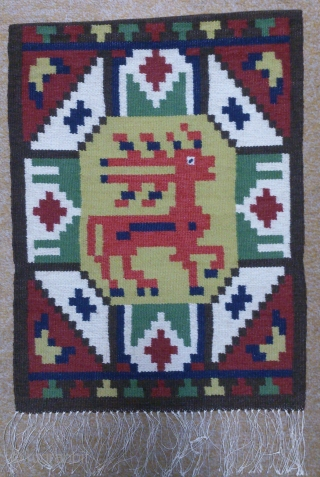 Antique Swedish Kilim(Rolakan technique), no: 261, size: 54*40cm, pictorial design, wall hangings.