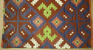 Antique Swedish embroidery(wool) on linen, no: 210, size: 97*60cm.