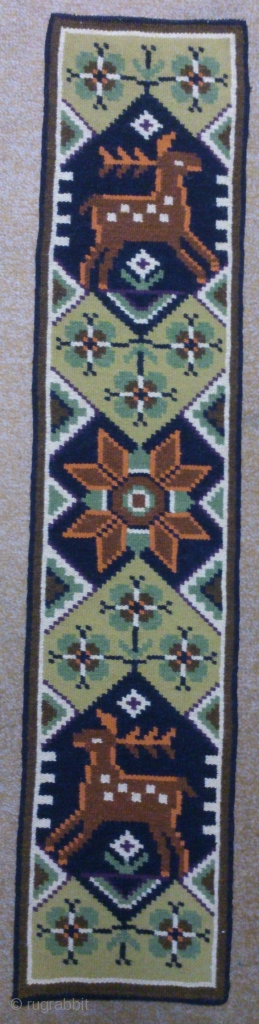 Antique Swedish Kilim(Rolakan technique), no: 305, size: 103*23cm, is the wall hangings.