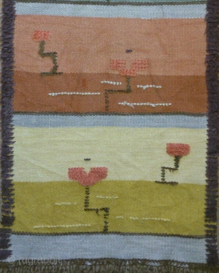 Antique Swedish Rya Rug, no: 227, size: 150*37cm, conceptual design.