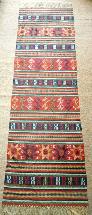 Antique Swedish Kilim, no: 348, size: 153*48cm.