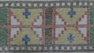 Antique Swedish Kilim, no: 249, size: 102*40cm, wall hangings.