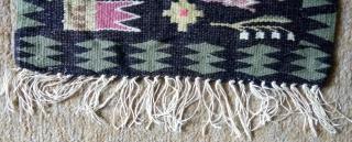 Antique Swedish kilim(Rolakan technique), no: 367, size: 42*31cm.
