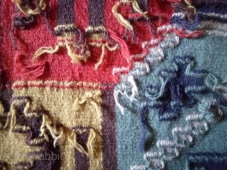 Swedish kilim(Rolakan technique), no: 418, size: 53*57cm, pictorial design.